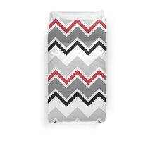 Chevron Red Grey Black Zigzag Pattern Duvet Cover