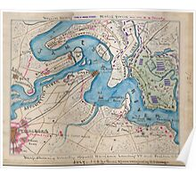 Civil War Maps 1035 Map shewing sic country opposite Harrison's Landing Va and position of US Army Poster