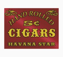 Hand Rolled Cigars vintage style signage Kids Tee