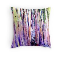 Straight trees at the waters edge with Goddess. Throw Pillow