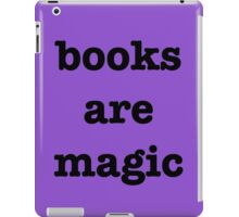 books are magic iPad Case/Skin