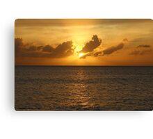 Cayman Island Sunset Canvas Print