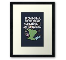 Peter Pan Quote Framed Print