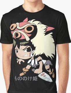 Princess Mononoke Hime (Chibi), Anime Graphic T-Shirt