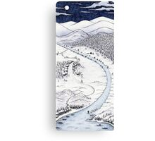 Snowy Night in Japan Canvas Print