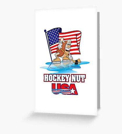 USA Hockey Nut Greeting Card