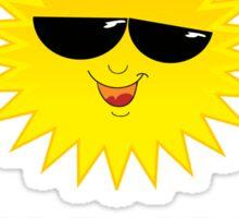 Cool Sun Cartoon Face - Love Sunshine Bake Tan T-Shirt Sticker