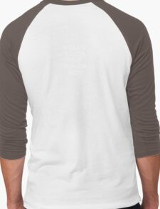 Hello from the other side - back (white letters) Men's Baseball ¾ T-Shirt