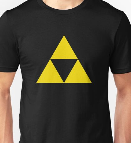 Gold Zelda triforce 3 Unisex T-Shirt