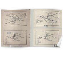 Civil War Maps 1607 Sketch of 2nd Manassas August 29th 1862 sketch of 2nd Manassas Aug 30th 1862 Poster
