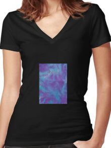Marbled paper 42 Women's Fitted V-Neck T-Shirt
