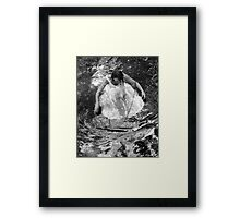 Dancer in White Dress in Shallow Water Framed Print