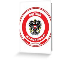 Euro 2016 Football - Team Austria Greeting Card
