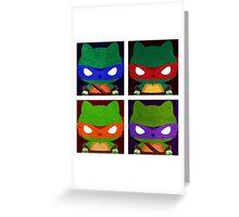 Teenage Mutant Ninja Kitties Greeting Card
