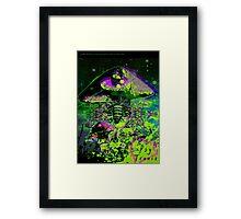 Psychedelic Mushroom Love Framed Print