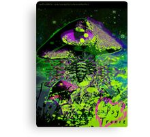 Psychedelic Mushroom Love Canvas Print