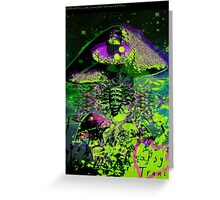 Psychedelic Mushroom Love Greeting Card
