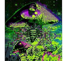 Psychedelic Mushroom Love by Dark Threads
