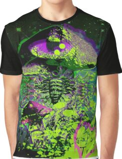 Psychedelic Mushroom Love Graphic T-Shirt