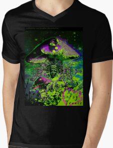 Psychedelic Mushroom Love Mens V-Neck T-Shirt