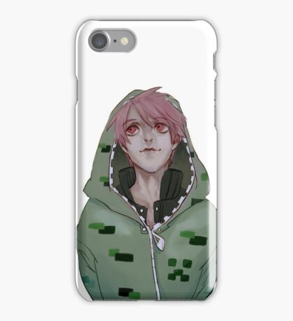 Creeper with pink hair iPhone Case/Skin