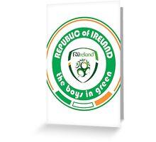 Euro 2016 Football - Team Republic of Ireland Greeting Card