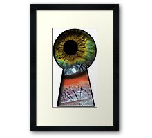 Eye in the KeyHole Framed Print