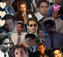 David Duchovny/Fox Mulder Collage by chloephernelia