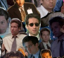 David Duchovny/Fox Mulder Collage Sticker