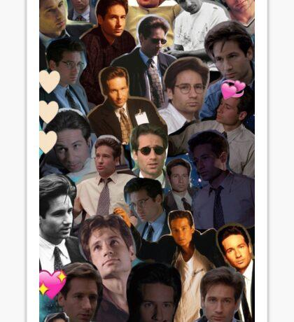 David Duchovny/Fox Mulder Collage Sticker