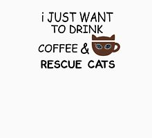 Drink Coffee Rescue Cats Unisex T-Shirt