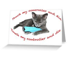 Cat and Wii Greeting Card