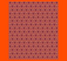 The Haunted Mansion Wallpaper - Orange/Red Kids Tee