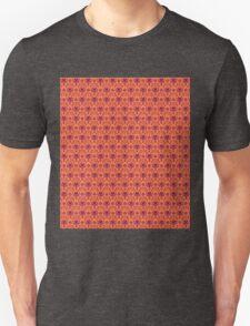 The Haunted Mansion Wallpaper - Orange/Red T-Shirt