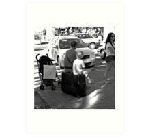 Mother, Son & Suitcase Art Print