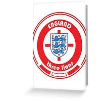 Euro 2016 Football - Team England Greeting Card