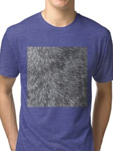GREY WOLF FUR Tri-blend T-Shirt