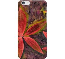 Wishing you a Merry Christmas with Poinsettias 2 iPhone Case/Skin