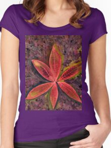 Wishing you a Merry Christmas with Poinsettias 2 Women's Fitted Scoop T-Shirt