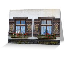 Windows and flowers Greeting Card