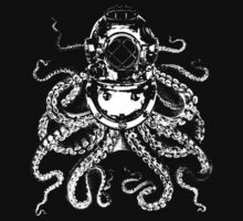Octopus in a diving helmet White Baby Tee