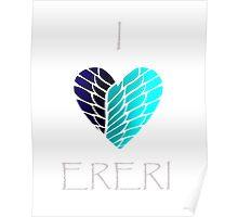 I Heart Ereri (White Letters) Poster