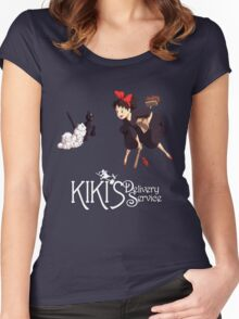 Kiki's Delivery Service-Studio Ghibli Women's Fitted Scoop T-Shirt
