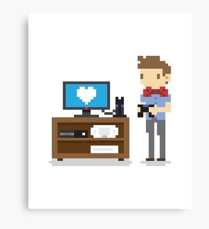 i love video games shirt! (console, pc) Canvas Print