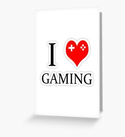I heart gaming (graphic tees, mugs, and more!) Greeting Card