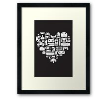 I heart gaming (graphic tees, mugs, and more!) Framed Print