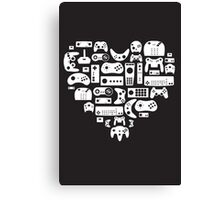 I heart gaming (graphic tees, mugs, and more!) Canvas Print