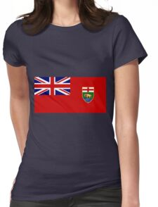 Manitoba Flag Womens Fitted T-Shirt