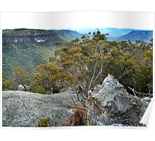 View over the Wolgan Valley Poster