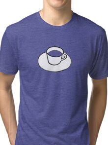 Cup and Saucer Tri-blend T-Shirt